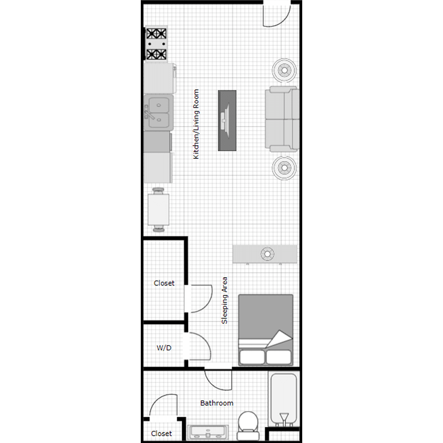 Walthall Lofts Studio A Layout