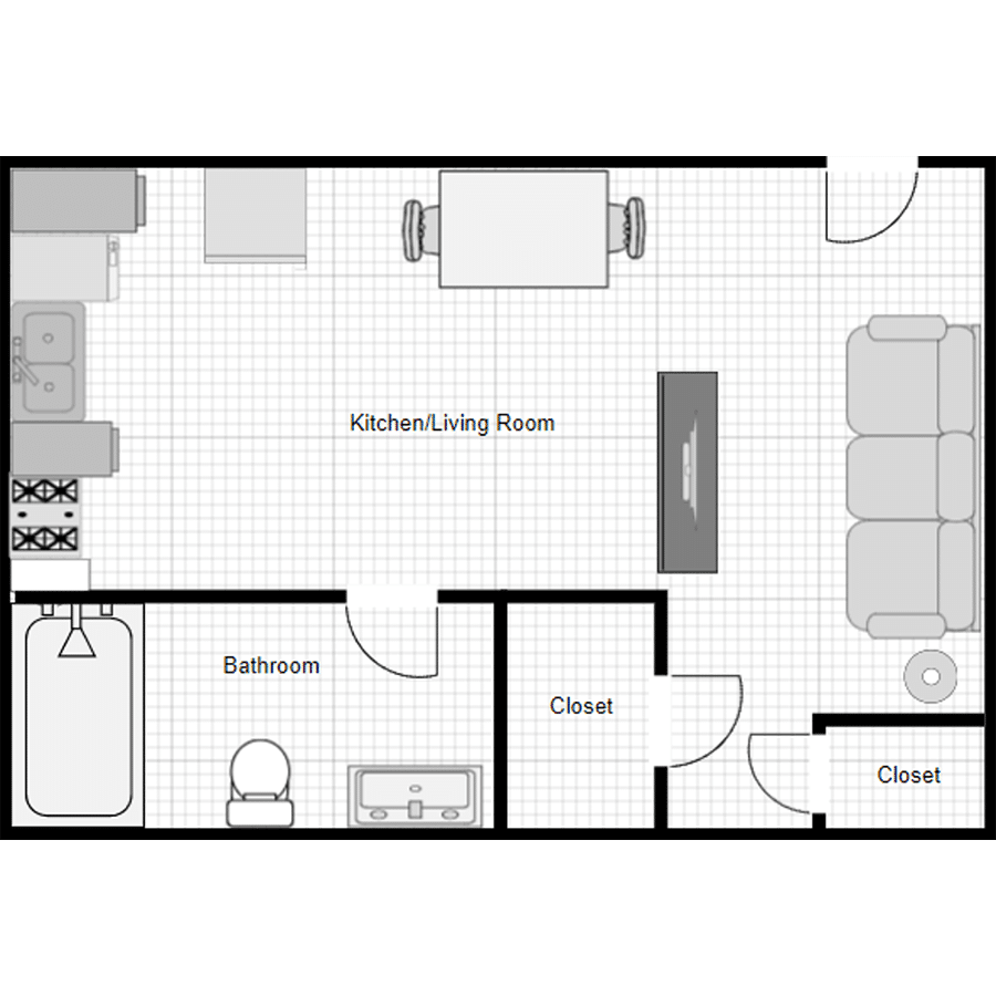 Walthall Lofts Studio D Layout