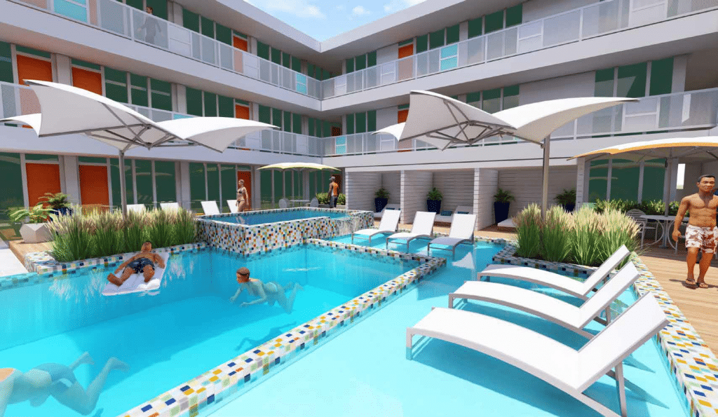 Walthall Lofts Pool Rendering 1