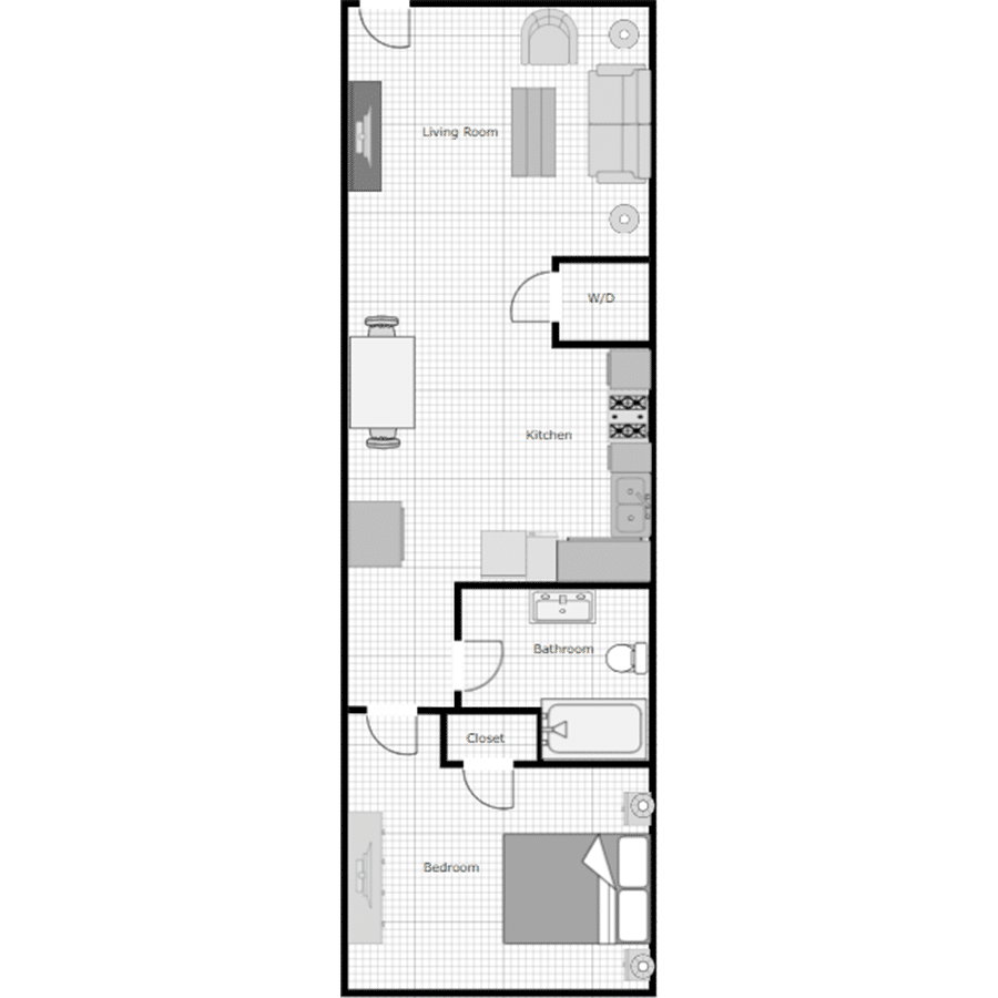 Walthall Lofts Apartment F Layout
