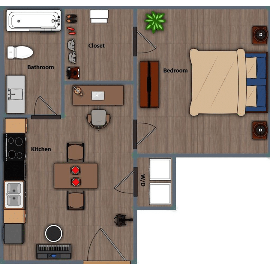 Walthall Lofts Apartment 3 Layout