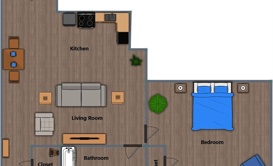 Walthall Lofts Apartment 5 Layout