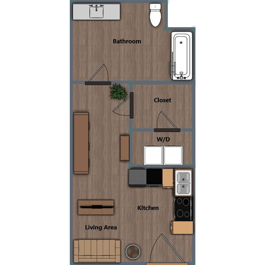 Walthall Lofts Studio 2 Layout