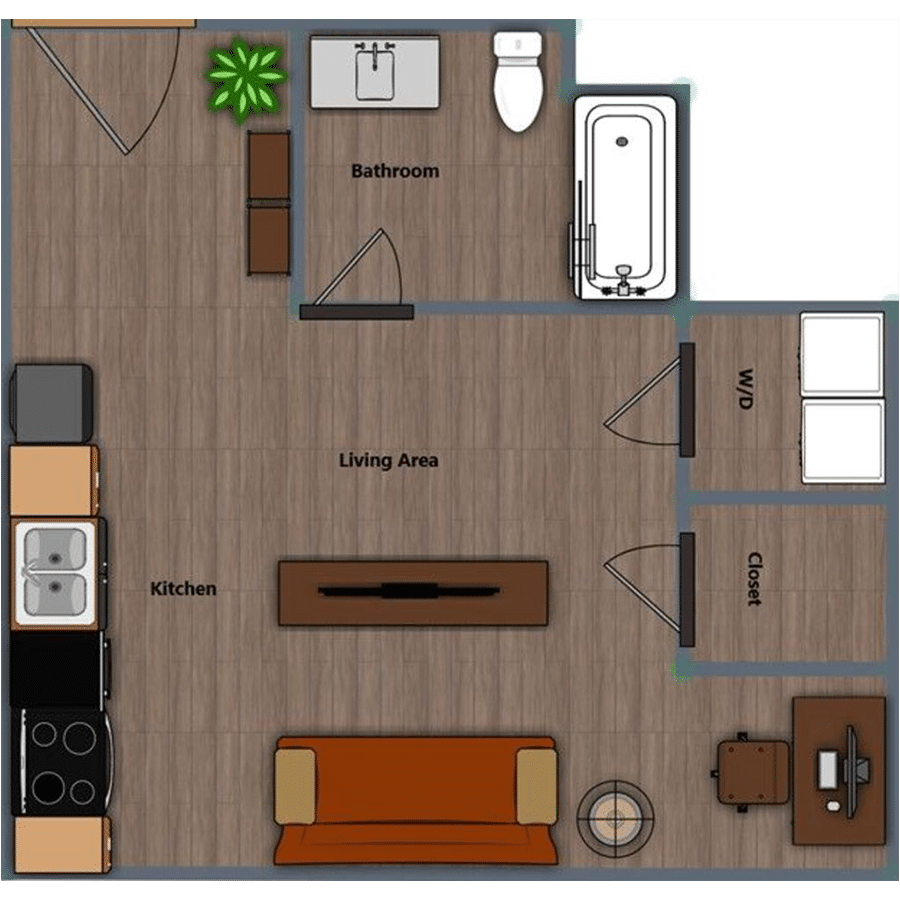 Walthall Lofts Studio 3 Layout