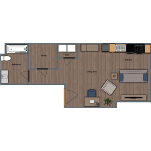 Walthall Lofts Studio 4 Layout
